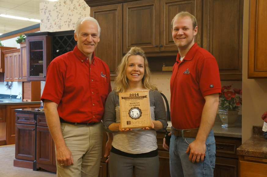 Superieur Bertch Cabinet Mfg., A Waterloo Based Cabinet Company, Recently Awarded Jim  U0026 Kevin Leavitt Of Marcus Lumber, One Of Their Authorized Dealers, ...