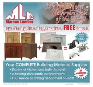 Marcus Lumber - Buy a Vanity Plus a Top, Receive a Free Faucet Promotion