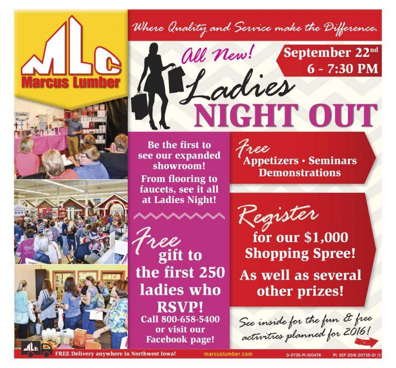 Marcus Lumber Ladies Night Out!